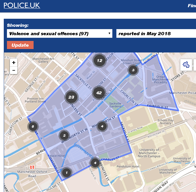 80 reported violent & sexual crimes in the gay village in May 2018