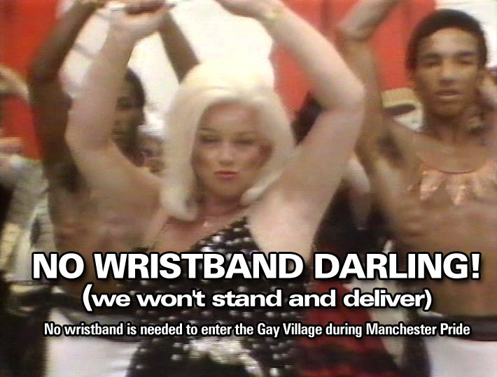 No wristband darling